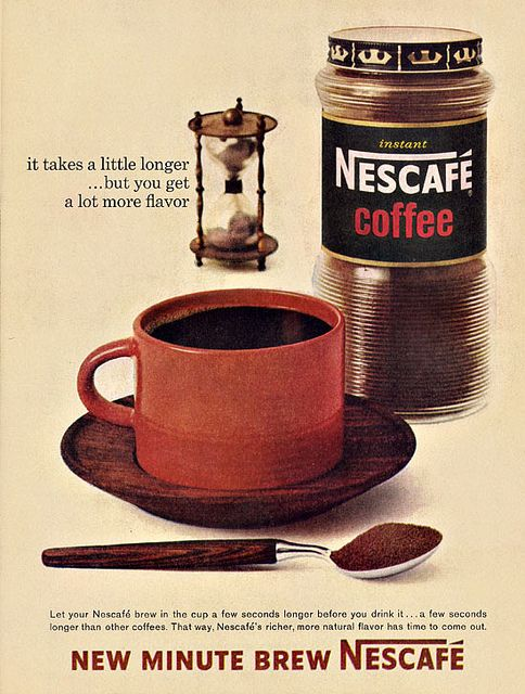 Nescafe Instant Ad, 1963 by alsis35 (now at ipernity), via Flickr