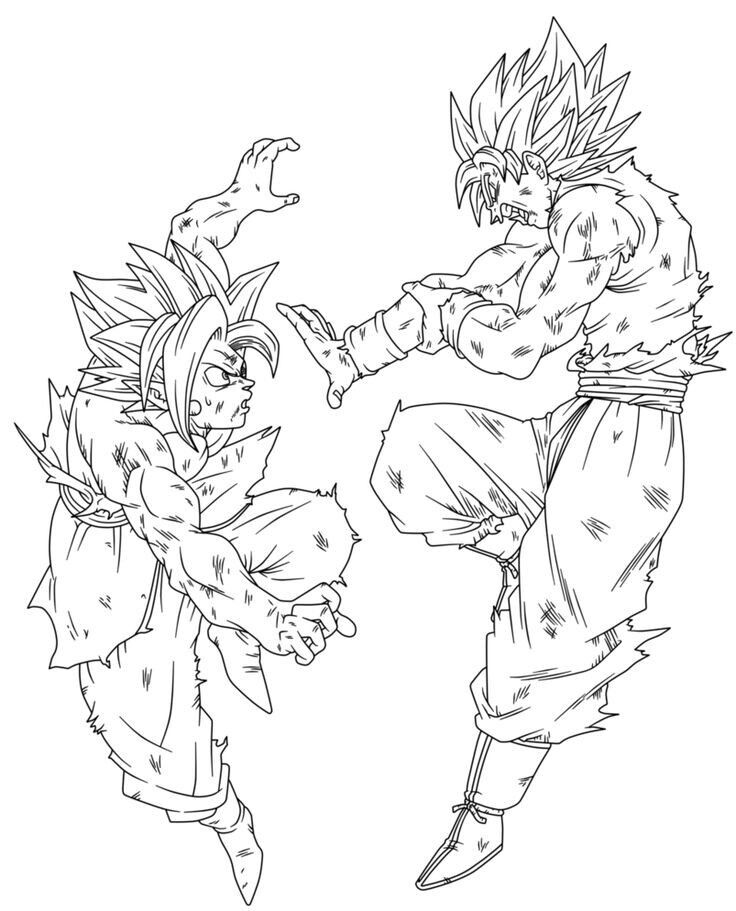 Pin De Evelyn Kozlov En Dragon Ball Z Dibujo De Goku Bocetos