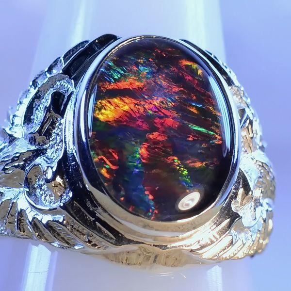 51 best Opal rings Mens images on Pinterest Australian opal Opal