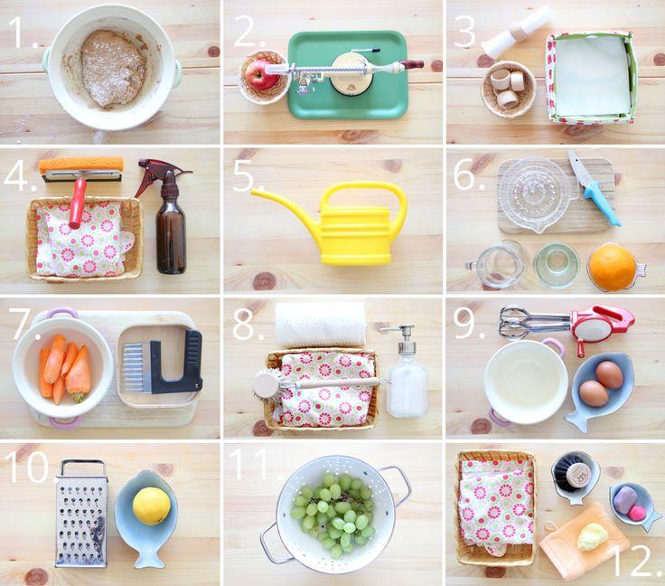Praktische Übungen, Montessori für zu Hause, die Intelligenz und die Hand, Kleinkind, Lieblingsaktivitäten