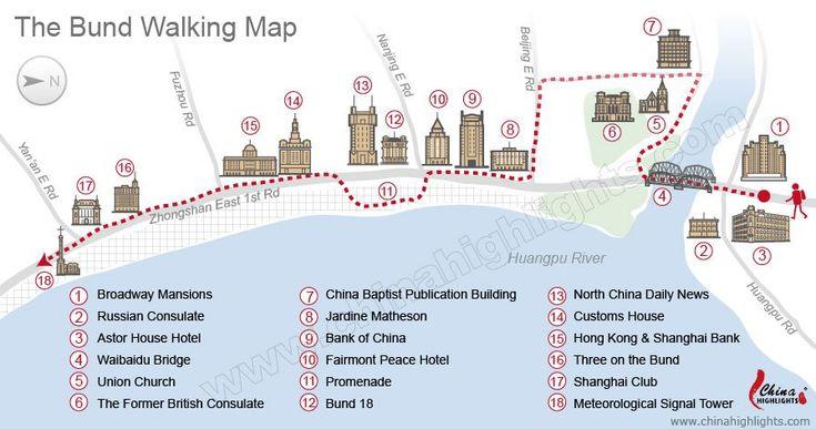 The Bund Walking Map