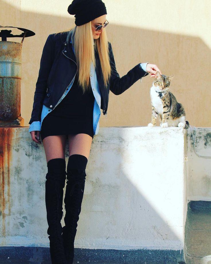 Η Κελι Καλτση και η γατα
