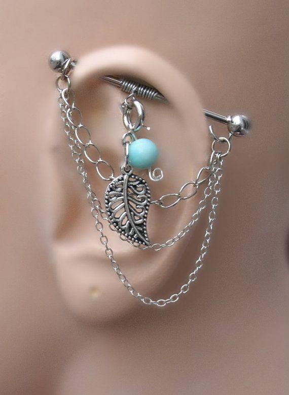 Versatile Industrial Barbell Ear Piercing 5 ways to by triballook