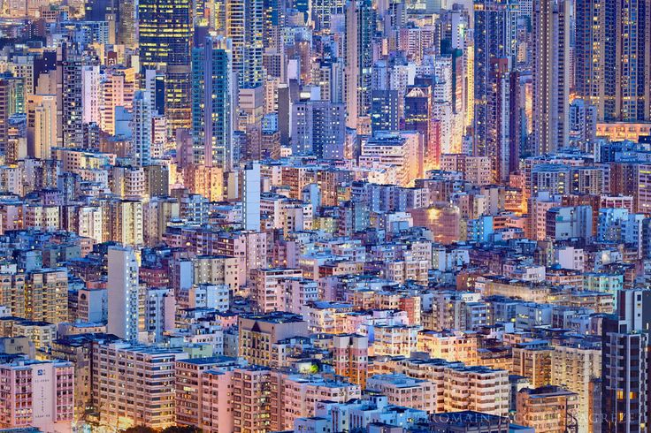 © Romain Jacquet-Lagrèze, 'The Blue Moment' #8, Hong Kong 2015