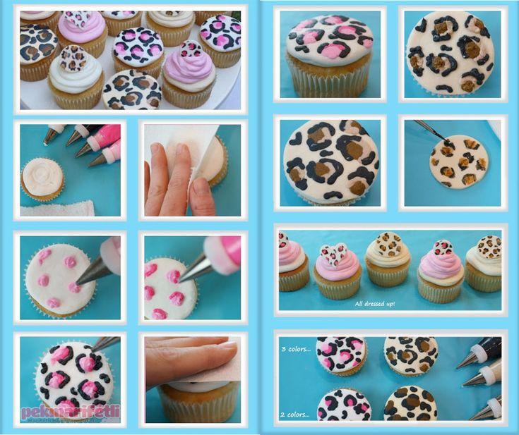 Leopar desenli cupcake yapımı | Mutfak | Pek Marifetli!
