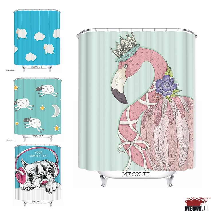 The Art Gallery Lovely Cute Animal Dog Sheep cartoon custom Shower Curtain Bathroom decor various sizes Free Shipping