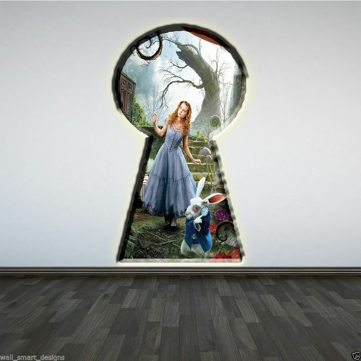 Best 25 purple wall stickers ideas on pinterest wall for Alice in wonderland mural