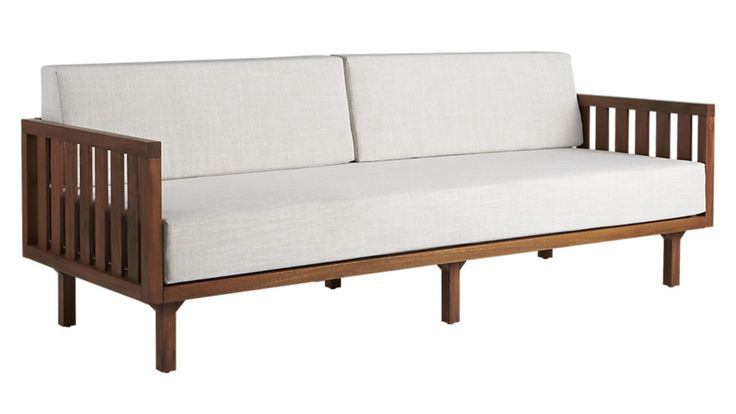 "tropez natural sofa. $1,079 Width: 82"" Depth: 32.25"" Height: 30.5"";    Seat Height:  Height: 16.5"";   Arm Height:   Height: 24.25"""