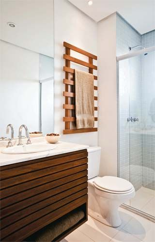 great lines- towel rack and vanity