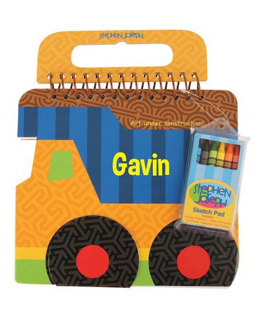Look at this #zulilyfind! Construction Personalized Shaped Sketch Pad