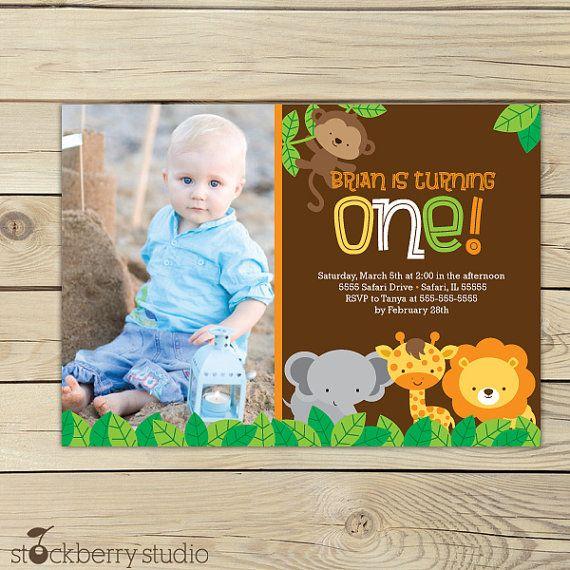 Free Printable Scrapbook Paper Safari | Safari Birthday Printable Jungle Animals Invitation by Stockberry ...