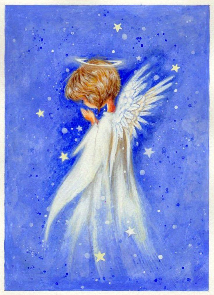 рисунок ангелы лицевой стороне упаковки