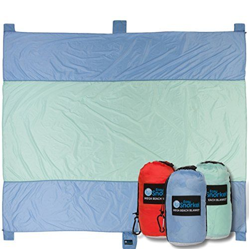 Mega Sand Proof Beach Blanket - XXL Oversized Blanket   80% Larger than other Travel / Picnic Blankets. Huge 10' x 9.5' Family Size fits 7+ Adults. Perfect for Hiking, Camping and Festivals. For product & price info go to:  https://all4hiking.com/products/mega-sand-proof-beach-blanket-xxl-oversized-blanket-80-larger-than-other-travel-picnic-blankets-huge-10-x-9-5-family-size-fits-7-adults-perfect-for-hiking-camping-and-festi/
