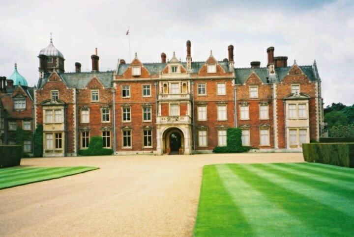 sandringham estate back entrance the british royal. Black Bedroom Furniture Sets. Home Design Ideas