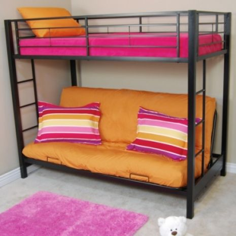 Bunk Bed With A Couch On The Bottom