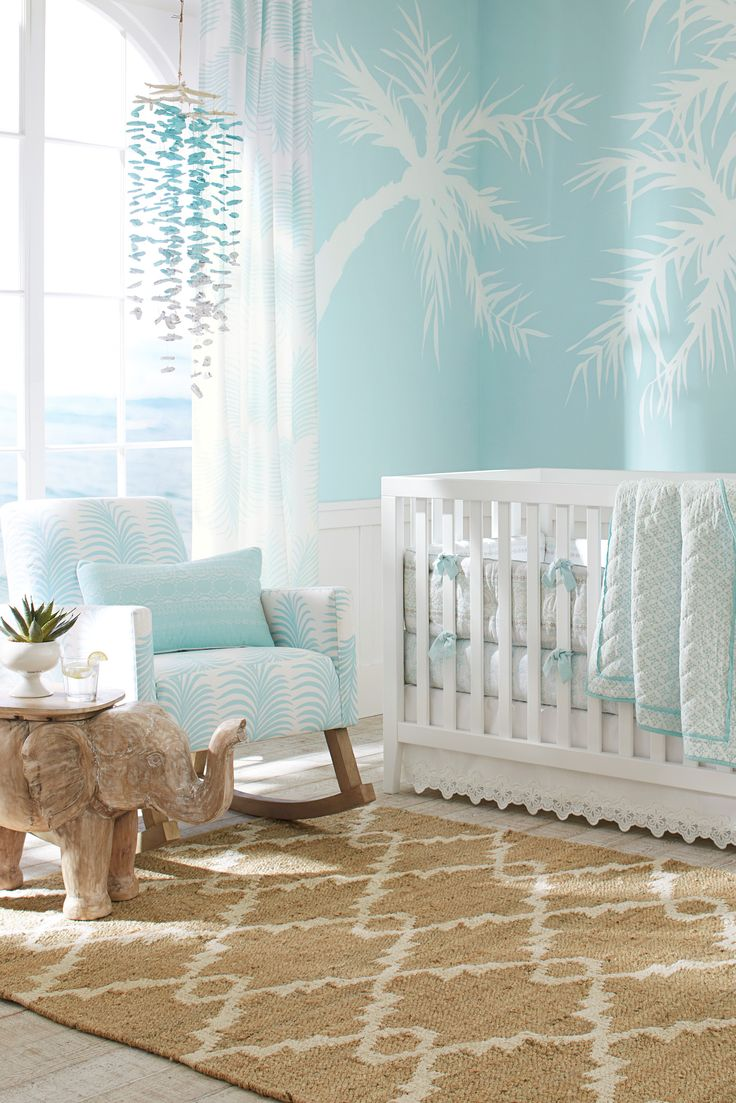 Baby boy room decor pinterest - Urban Rocker Premium Performance Awning Stripe Gray Coastal Nurserytropical