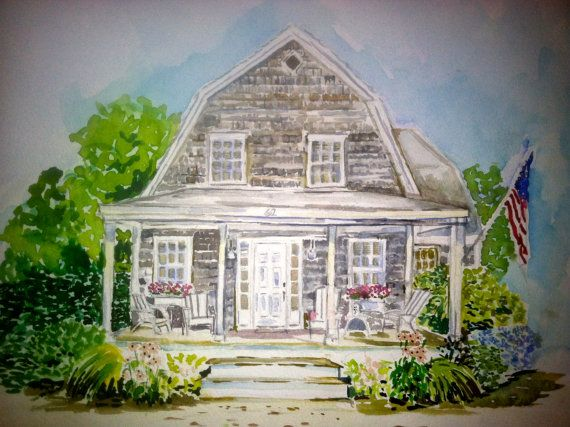 Custom Home Watercolors by AGLENNWATERCOLORS on Etsy, $140.00