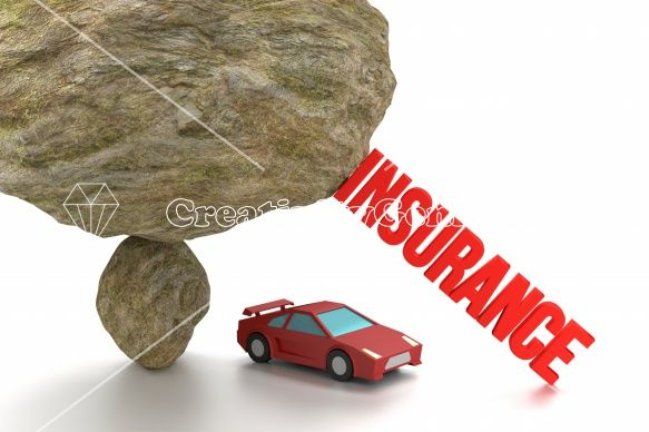 #Car #insurance concept with sports car under a rock – CreativityGems