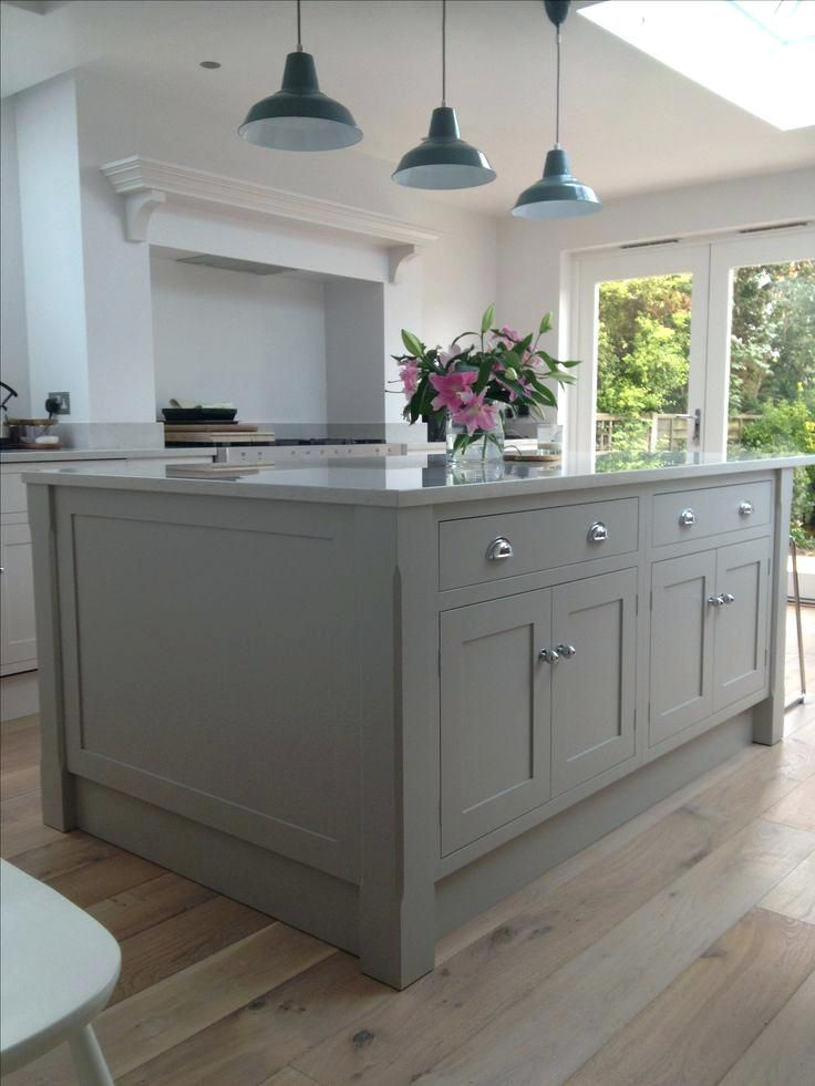 Love Everything About This Kitchen Flooring Color Palette Built In Oven Range Http Centophobe Com Kitchen Interior Grey Shaker Kitchen Home Kitchens