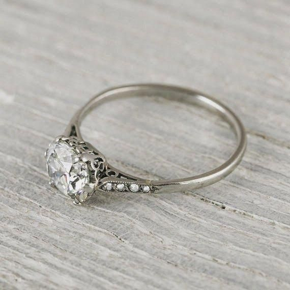 Solitaire Wedding Rings Are Really Gorgeous Image 9543 Solitaireweddi Vintage Style Wedding Rings Beautiful Engagement Rings Vintage Antique Engagement Rings