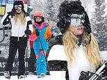 Jessica Simpson hits the slopes with Maxwell and brother-in-law Evan Ross during family Aspen trip