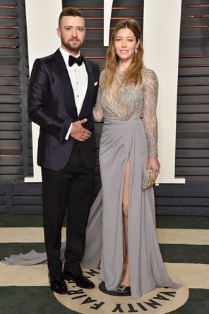 Vanity Fair Oscar Party 2016 - JUSTIN TIMBERLAKE IN TOM FORD E JESSICA BIEL IN ZUHAIR MURAID