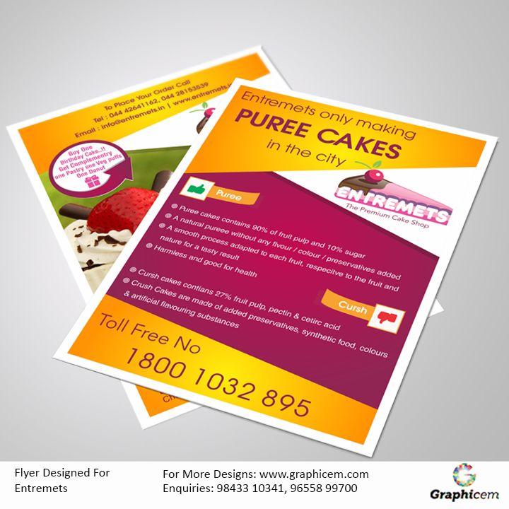 Flyer Designed For Entremets