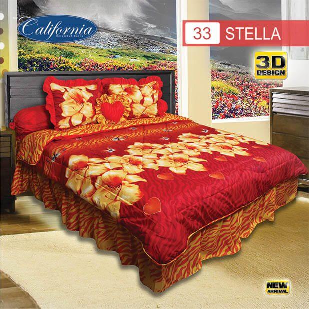 Sprei Set (King 180×200) motif Stella Premium Lembut. Takut tidak sesuai Ukuran (kekecilan/kebesaran) ??? Kami beri garansi 30 Hari.