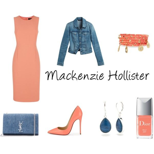 Mackenzie Hollister (from dork diaries) by bugmack on Polyvore featuring Jaeger, White House Black Market, Christian Louboutin, Yves Saint Laurent, Emily & Ashley, Napier and Christian Dior