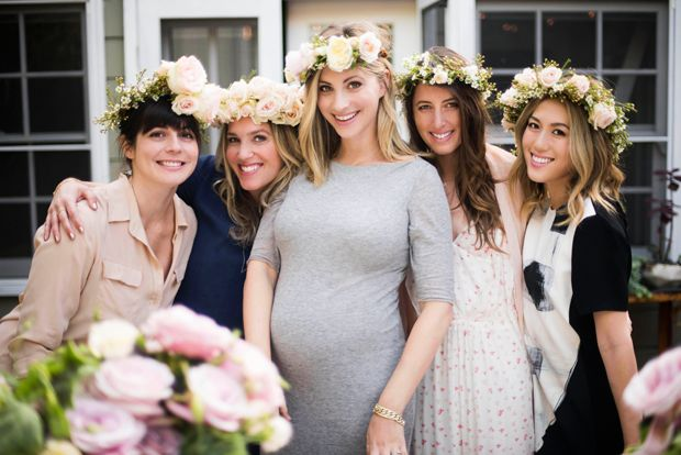 Flower Crowns at Shower | Cupcakes & Cashmere