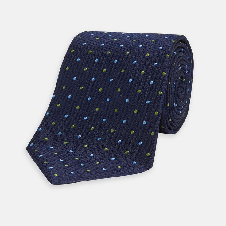 Worn by Michael Douglas' character, Gordon Gekko, in the 2010 Wall Street film of the same name, the Money Never Sleeps spotted tie is a sleek yet subtle ode to cinema.