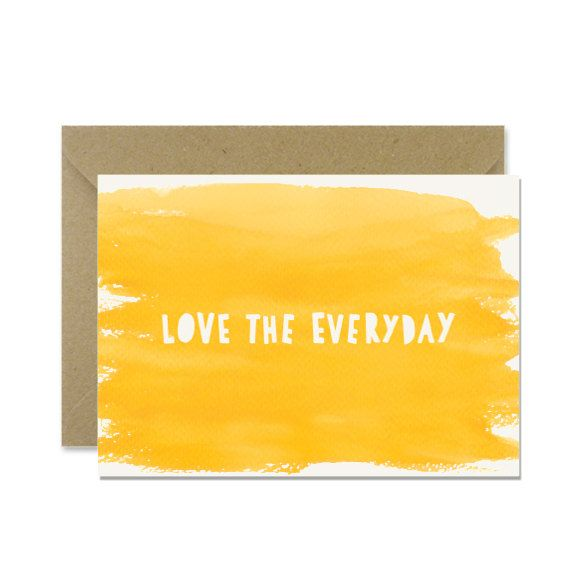 Love the everyday card by amylindroos.com on Etsy