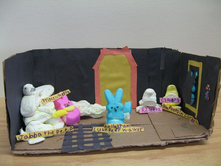 'Peep Wars: Jabba the Peep' by Shayna C., age 8  / Missoula Public Library Peeps Show 2017 contest entry