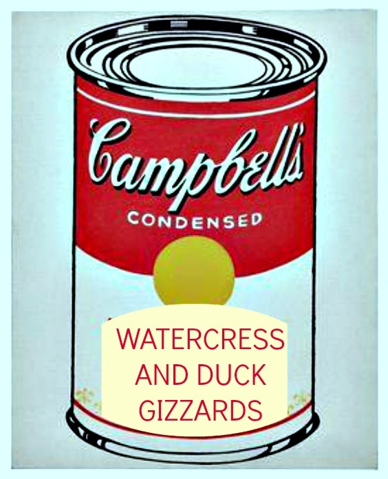 The most popular Campbell's Soup in Hong Kong is watercress and duck gizzards.  I know a lot of you like to look for new recipes.  This is a delicious new recipe for you. :-)      www.facebook.com/pinterestprosolutions