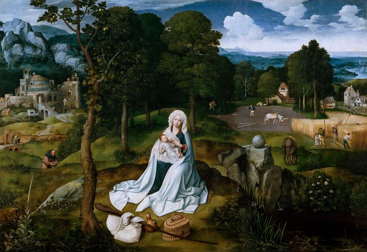 JOACHIM PATINIR, REST ON THE FLIGHT FROM EGYPT, AFTER 1519