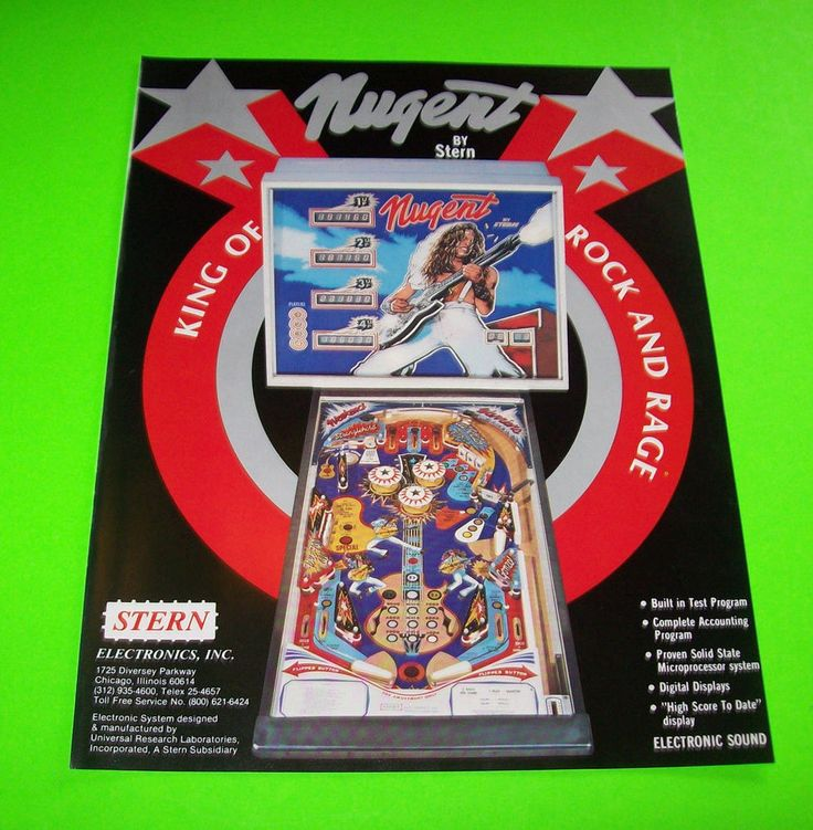 ted nugent pinball machine for sale