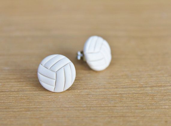 Sporty Girl Earrings... Volleyballs NEW Updated Design on Etsy, $8.00