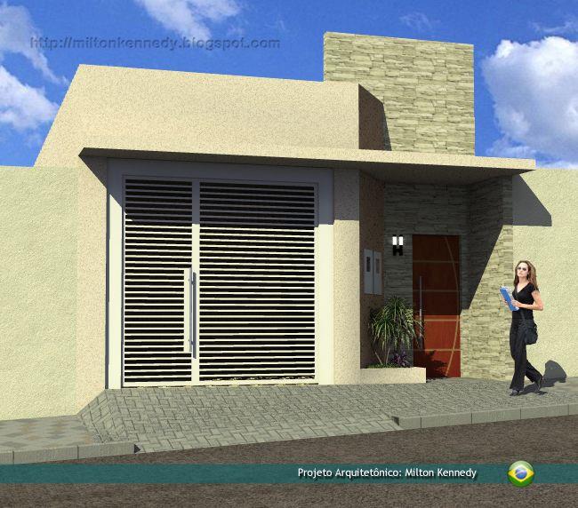 Projeto de casa pequena ira casas pequenas e simples for Fachadas de casas modernas de 6 metros