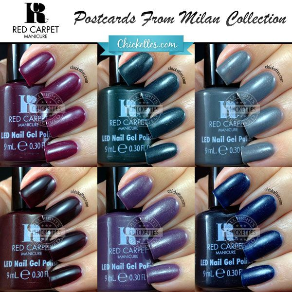 Red Carpet Manicure (RCM) Postcards From Milan Collection Swatches