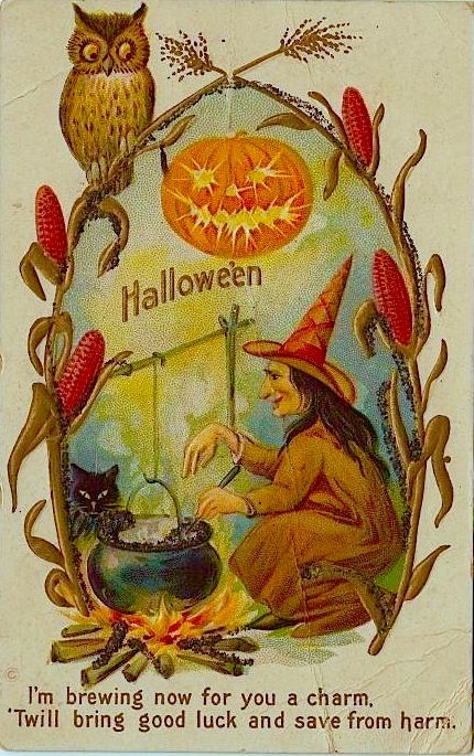 halloween poems vintage halloween halloween fun vintage ephemera vintage postcards halloween decorations samhain decorations vintage decor - Antique Halloween Decorations