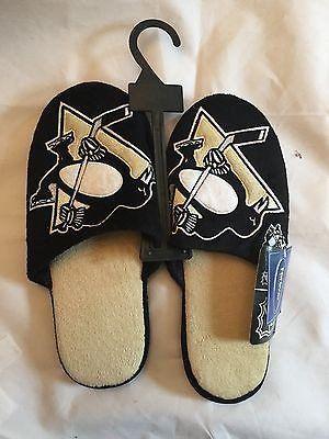 NHL Pittsburgh Penguins Men's Size 13/14 Slippers  www.mancavesonline.com
