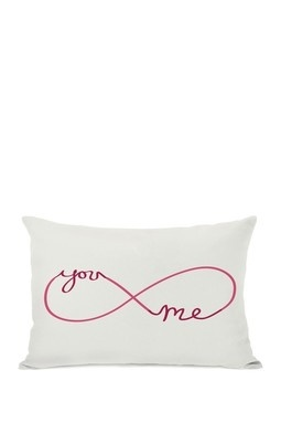 love pillow/you + me for infinity