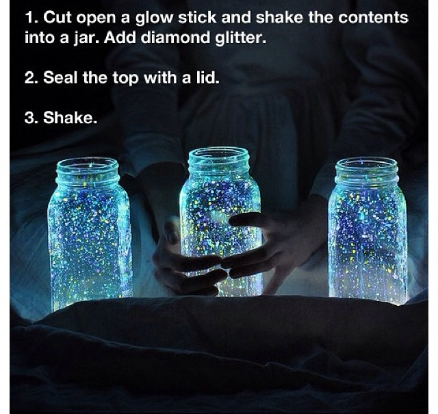 Glow in Dark Mason Jar- DIY