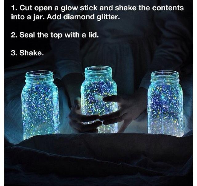 Glow in dark mason jar diy diy pinterest jars good for Glow in the dark diy ideas