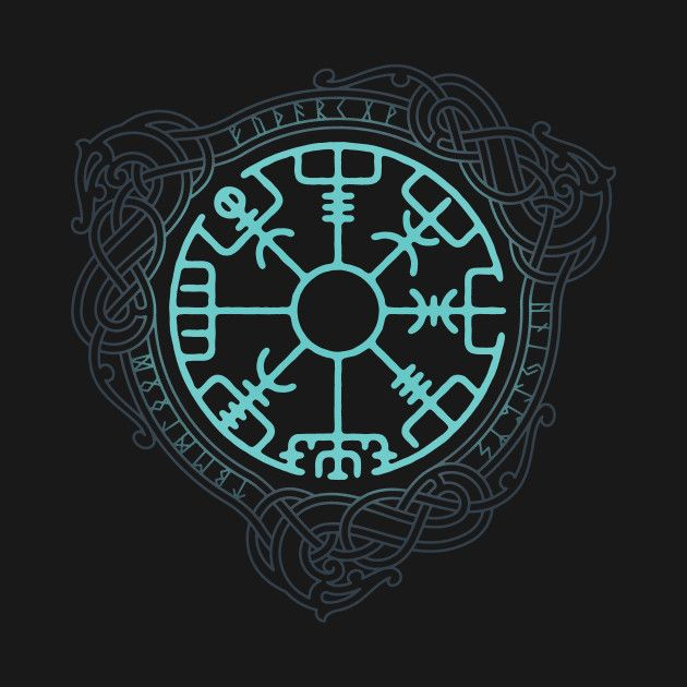 Awesome 'VEGVISIR' design on TeePublic!