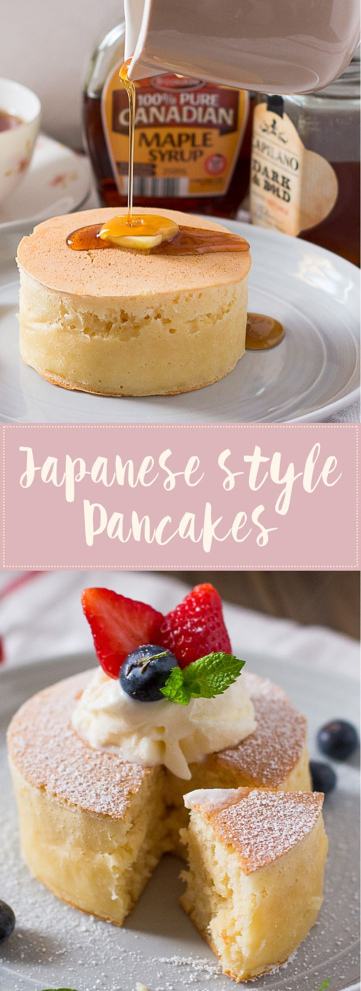 Extra thick and fluffy Japanese Style pancakes Unlike anything you've ever had before and so good!!