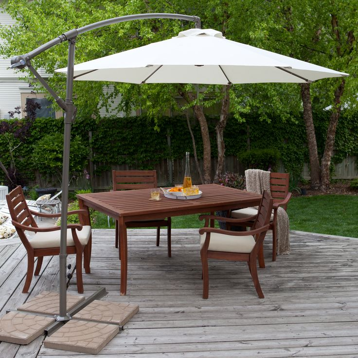 Have to have it. Coral Coast 9-ft. Offset Umbrella - $99.98 @hayneedle
