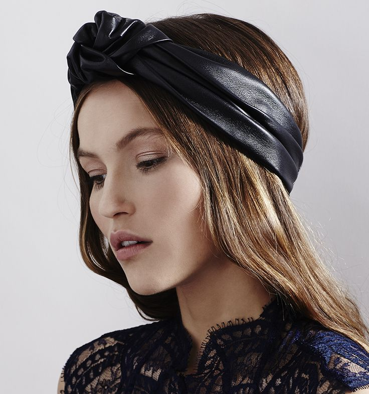 Leather Knotted Turban headwrap by Jennifer Behr, available at www.jenniferbehr.com