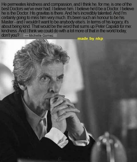 Michelle Gomez on Peter Capaldi as Doctor Who