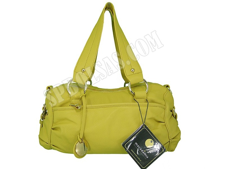 Bolsas Macadâmia | Bolsas Feminina Macadâmia MCB09004 Amarela  - Veja este e mais outros modelos em nosso site:  http://www.spbolsas.com.br